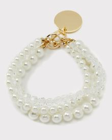 Multirow pearl bracelet