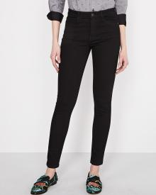 High-rise extreme 360 stretch black skinny jeans