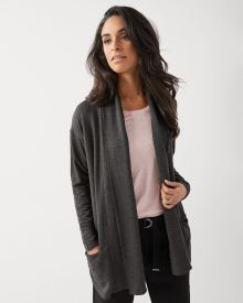 C&G Open-front fleece cardigan