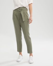 High-Waist Pleated Paperbag Pant - 28""