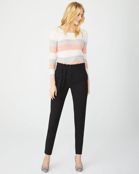Pastel Stripe hairy knit sweater