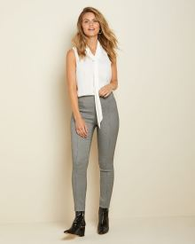 High-waist Houndstooth legging pant