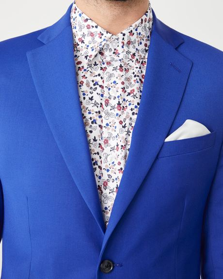 Slim fit bright blue suit blazer