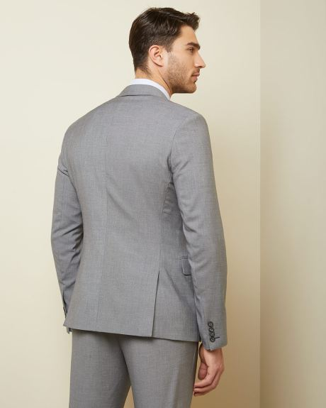Essential Slim Fit stretch light grey suit Blazer - Short