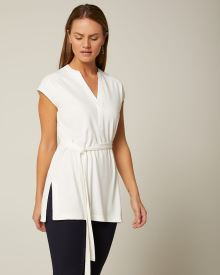 C&G Cap sleeve belted tunic t-shirt