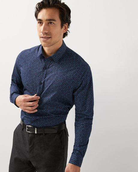 Athletic Fit star print Dress Shirt
