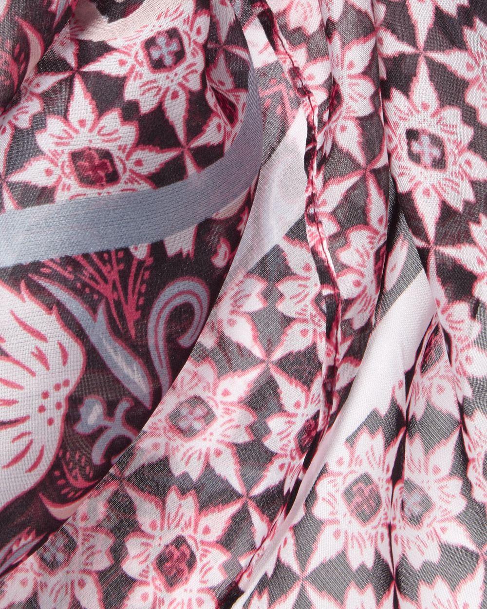 Foulard en patchwork fleuri   RW CO. c89bd1326fc