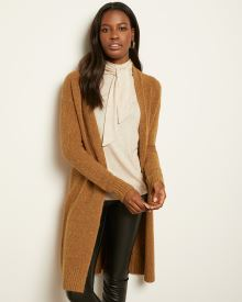 Boucle Knit Open-Front Cardigan