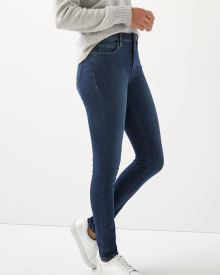 High-rise extreme 360 stretch medium blue wash skinny jeans