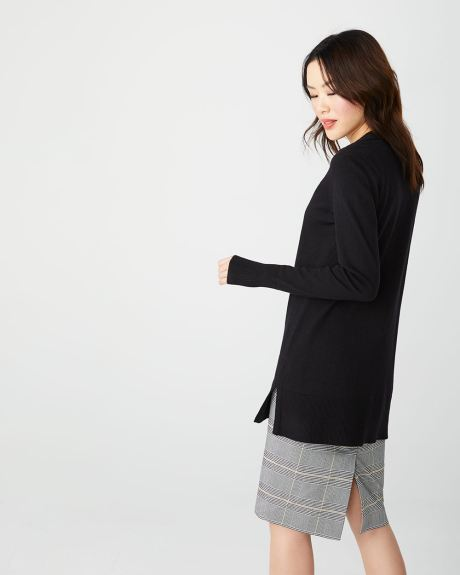 C&G Open-front long sleeve cardigan