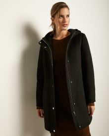 Hooded Wool-Blend Parka Jacket
