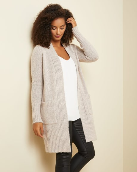 C&G Open-front Cardigan with patch pockets