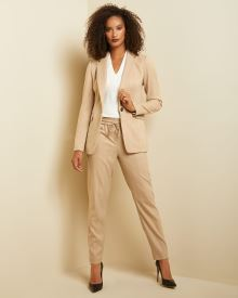 Long Fitted Camel stripe blazer