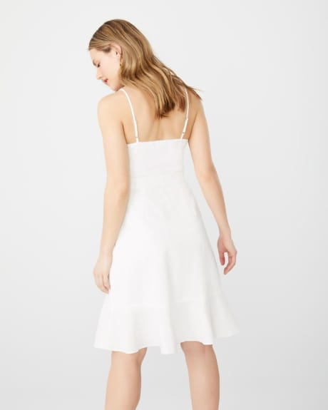 ABS by Allen Schwartz asymmetric ruffle cocktail dress