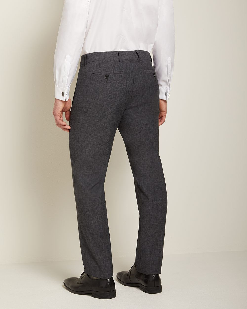 Essential Athletic Fit Dark heather grey suit pant