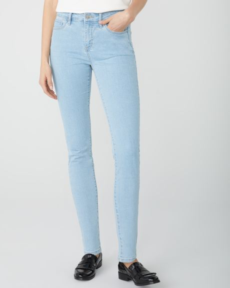 Mid-rise Sculpting skinny jeans in Light wash