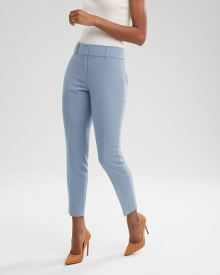 Blue Curvy Fit Slim Leg Ankle Pant