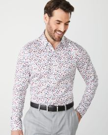 Tailored Fit small floral dress shirt - Short