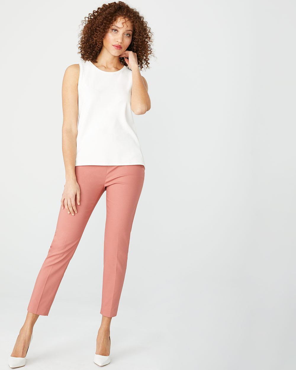Modern chic high-waist Slim Leg Ankle Pant