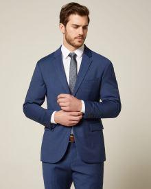 6296662b610c4c Essential Athletic Fit blue wool-blend suit Blazer | RW&CO.