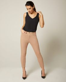 Natalie high-waisted cropped coloured jegging