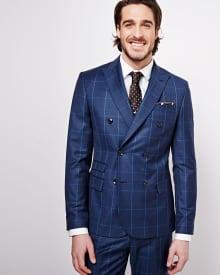 The double-breasted Windowpane suit - Rwco CA