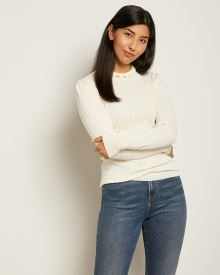 Fitted Pointelle Sweater