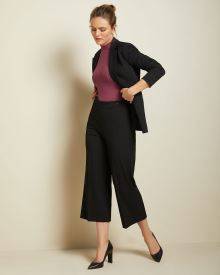 Stretch High-waist Signature fit cropped wide leg Pant