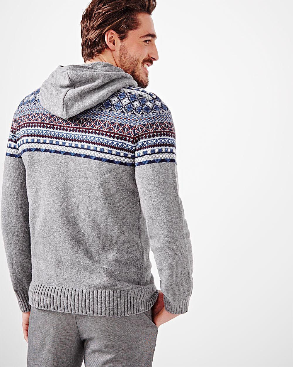 fair isle hooded sweater rw co. Black Bedroom Furniture Sets. Home Design Ideas
