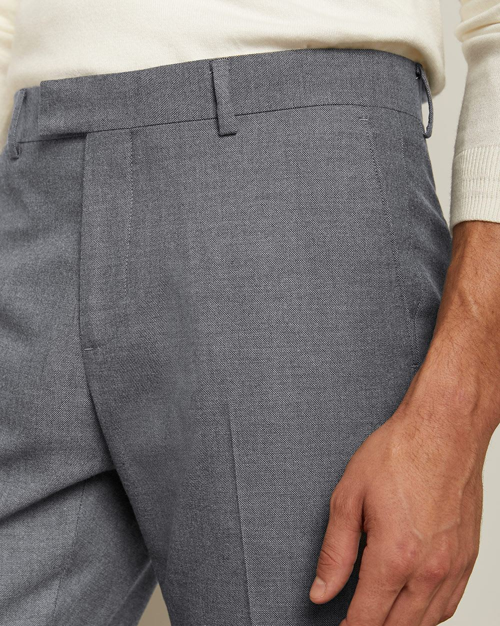 Tailored Fit Light Blue 40-hour Suit Pant