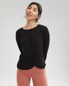 Long Sleeve Knotted Loungewear T-Shirt