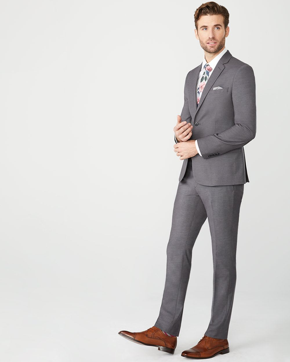Essential Tailored Fit wool-blend suit Pant