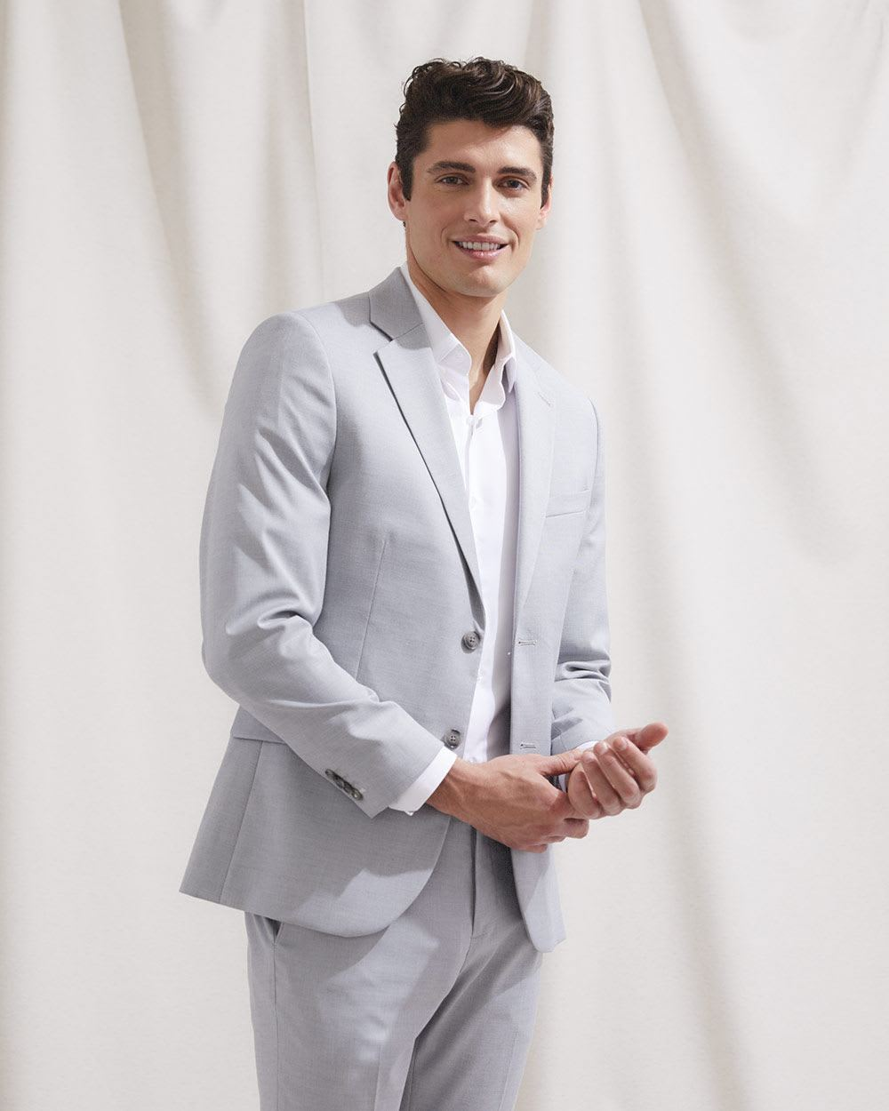 Essential Light Grey Suit Blazer