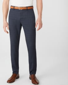 Slim fit Navy check City Pant