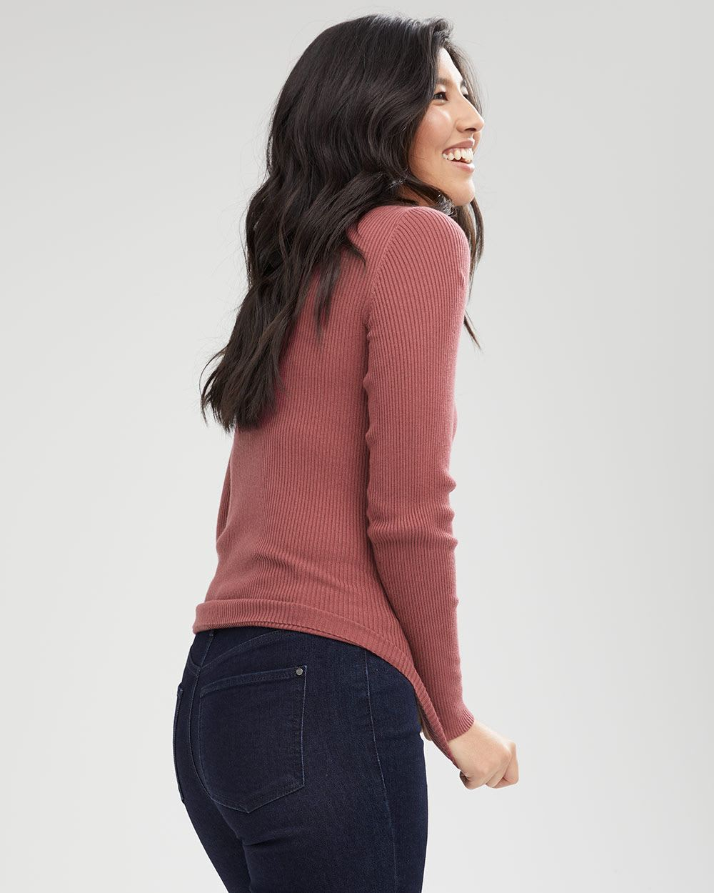 Fitted Cashmere-Like Sweater