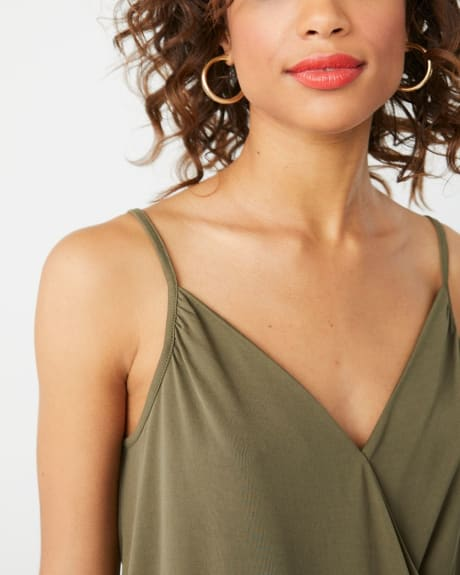 Wrap-front cami