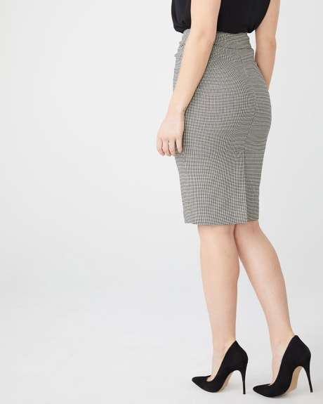 Mini Houndstooth City Pencil Skirt - 25''