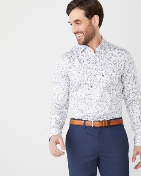 Slim Fit faded floral dress shirt