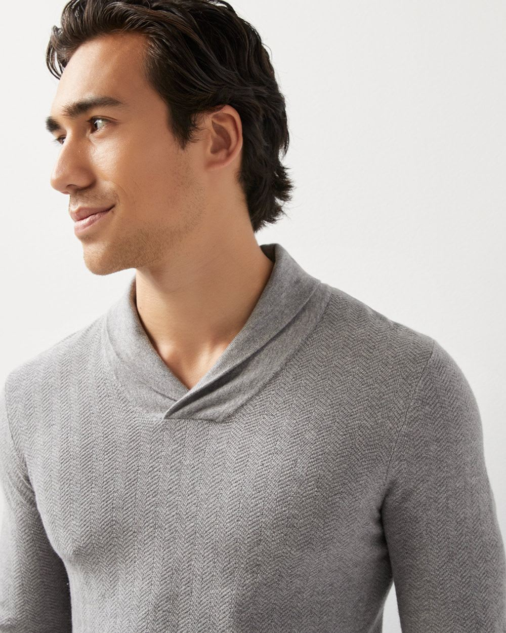 Textured Shawl-collar sweater