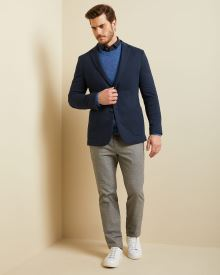 Slim fit knit blazer