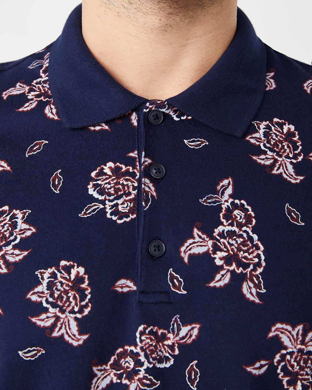 Short Sleeve printed pique polo