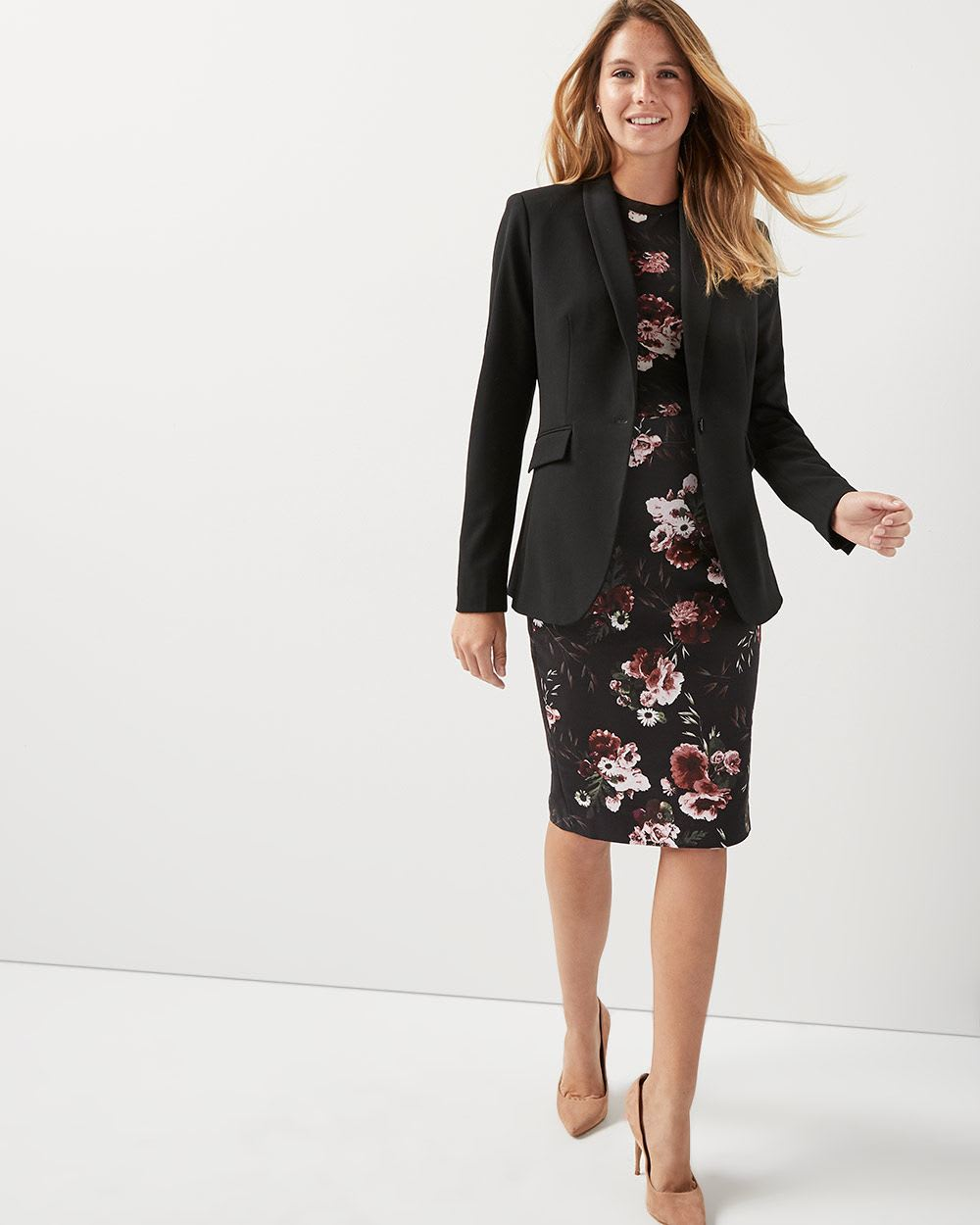49c98113b474e High-Waist Floral Modern chic pencil skirt | RW&CO.