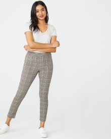 C&G Neutral plaid City legging - 28''