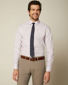 Tailored Fit Pink Check Dress Shirt