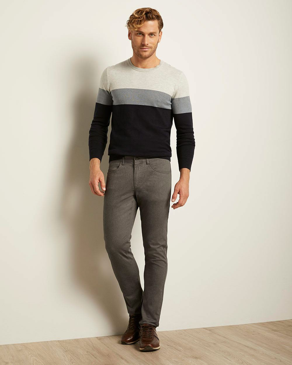 Slim Fit Textured 5-pocket Pant
