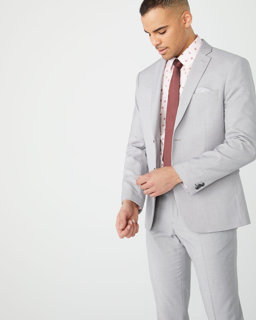 c7122b28 Essential Athletic Fit light heather Grey suit Blazer | RW&CO.