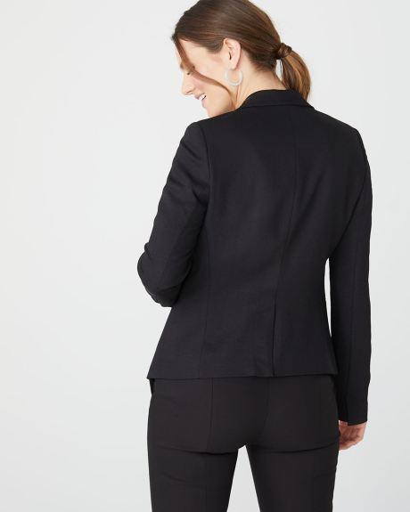 Loose-fit open-front Blazer
