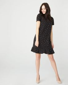Flounced hem Short sleeve shirt dress