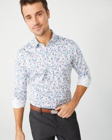 Tailored Fit pastel floral Dress Shirt