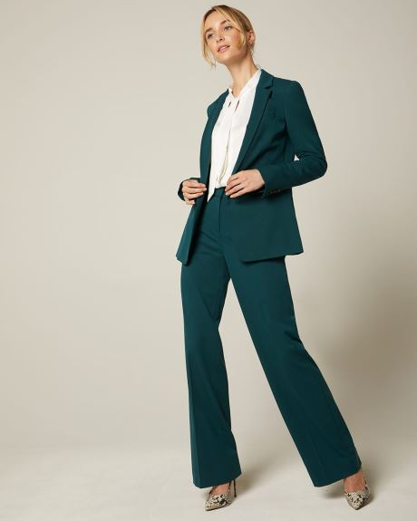 Peacock green Stretch fitted blazer